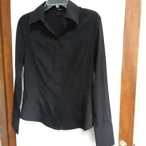 Express black long sleeve blouse